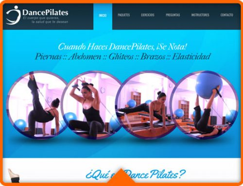Sitio Web DancePilates